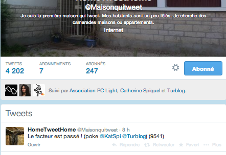 L'innovation : la maison qui tweete